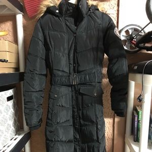 Madden girl puffer trench coat